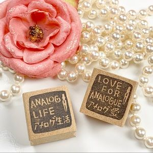 Other - Love for analogue Wood Rubber Stamps